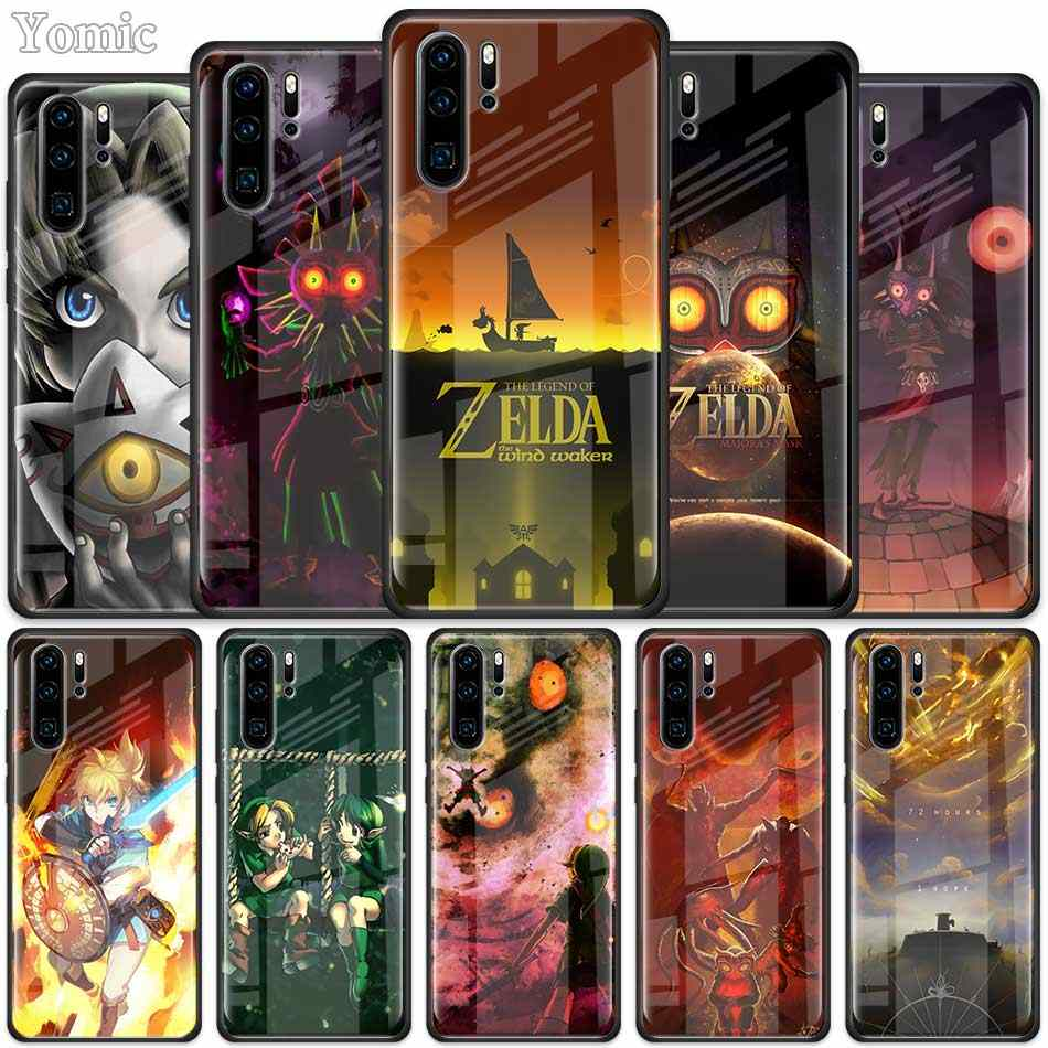 The Legend of Zelda game Tempered Glass Case for Huawei P30 Pro P10 P20 P30 Lite Mate 10 20 Pro Honor 20 Pro 8X Cover Shell