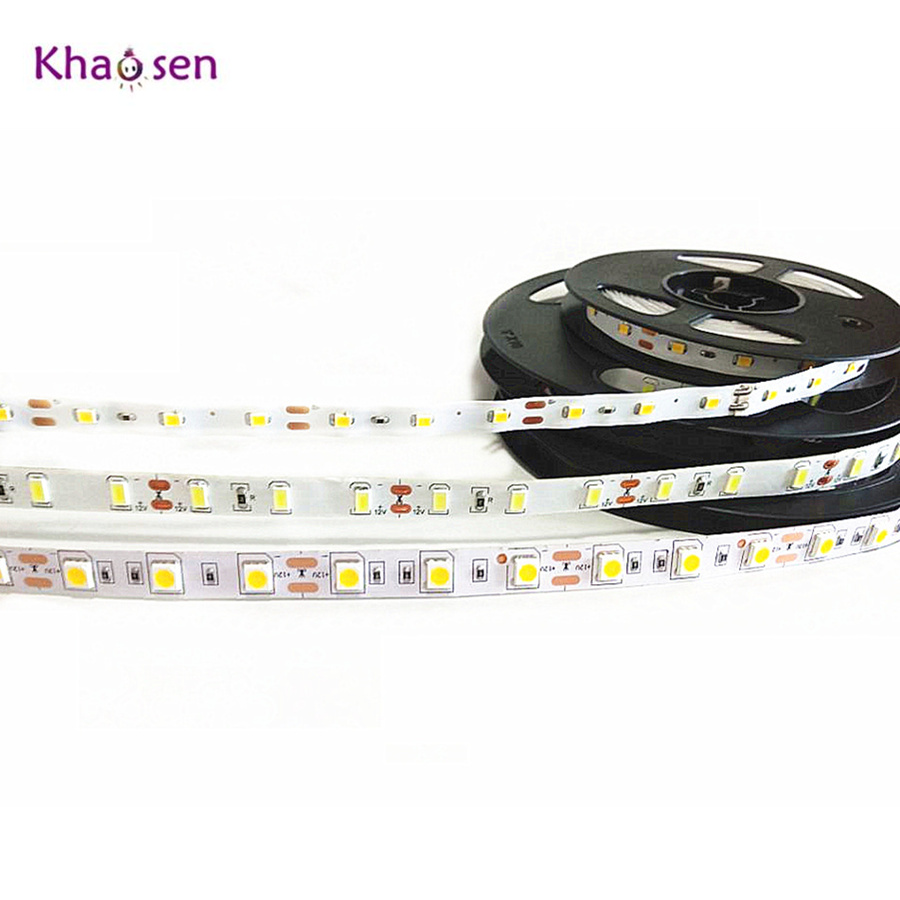 1m-5m SMD 2835 5630 5050 Non Waterproof RGB LED Strip 60LEDs/M DC12V Flexible LED String light Ribbon Tape Home Decoration Lamp