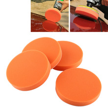 "10 pz/set 6 ""(150mm) auto Tamponi Per Lucidatura Spugna di Lucidatura di Lucidatura Ceretta Pad Tool Kit Per Auto Tampone Lucidatrice Auto Set per La Cura di Arancione"