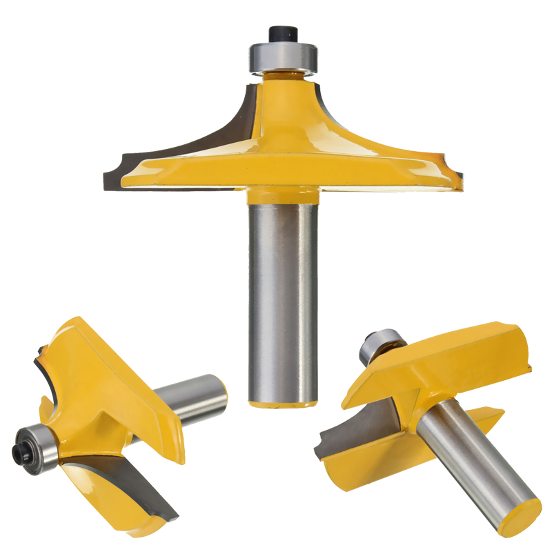 High Quality 1Pcs 1/2 inch Shank Ogee Chisel Cutter Edging Router Bit Door Woodworking Carpentry Tool 2pcs high quality 1 2 inch shank rail