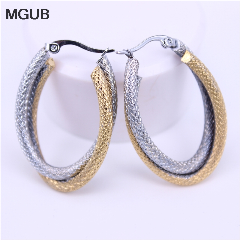 MGUB 35mm Two Colors Stainless Steel Excellent Material Fashion Dance Wear Female Popular Jewelry Oval Wholesale  LH510