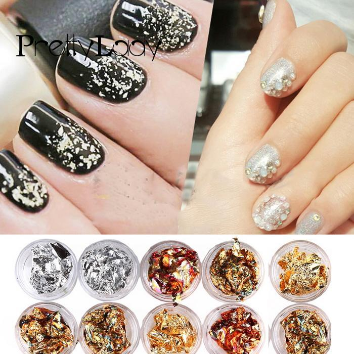 Manicure Paper Nail Stickers 3D Glitters Nail Art Decals Foil Decoration Tips 3d glitters beads acrylic tips decoration manicure wheels nail art rhinestones