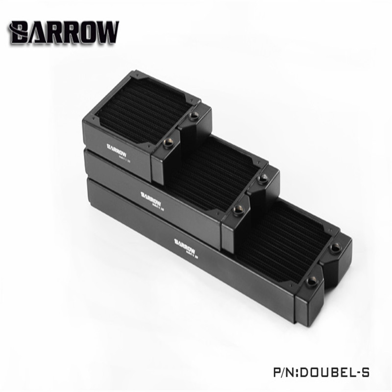 Barrow Water Cooling Radiator Thick 34mm High density Double wave Copper Water Radiator Row 120 240