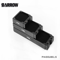 Barrow Water Cooling Radiator Thick 34mm High density Double wave Copper Water Radiator Row 120 240 360