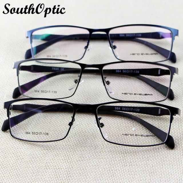 2016 nuevo borde completo para hombre memoria de aleación de titanio de acero inoxidable ligero estupendo gafas 3 colores Prescription 984 Eyewear del marco óptico