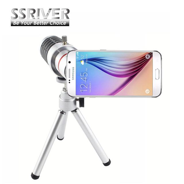 Ssriver para samsung galaxy s6 g9200 gopro lente zoom de 16x lente Telescópio Camera Lens Kit Tripé + Case Voltar lente Do Smartphone Para S6