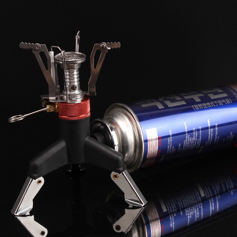 Camping & Hiking Outdoor Tripod Gas Stove Connector Ultralight Copper Tank Stand Adapter Three Legs Gas Tank Adapter Outdoor Stove