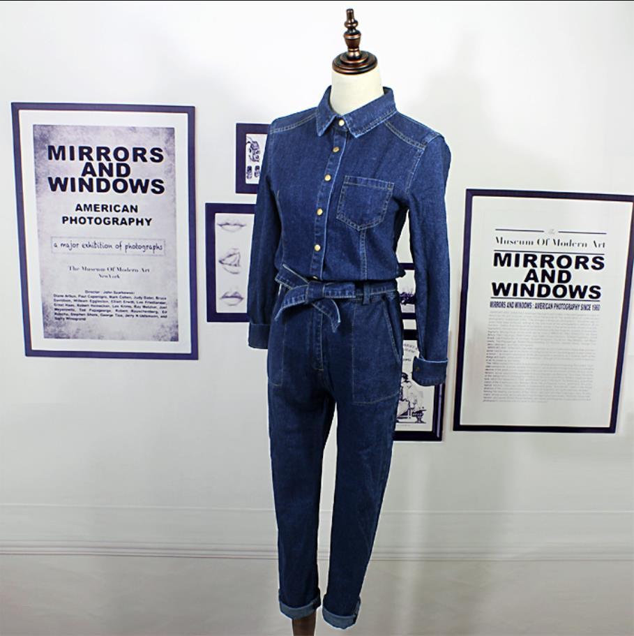 Denim 2019 Safari Blue Pour Femmes Dark Barboteuse Femme Unique Élégant Printemps Salopette Pantalon Casual Style Combinaisons Jeans Poitrine SqStgwxzr