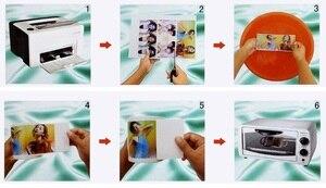 Image 2 - (10 adet/grup) çok yönlü yükseltme, gerek yok sprey vernik/lake/akrilik, a4 şeffaf/şeffaf lazer su transfer kağıdı