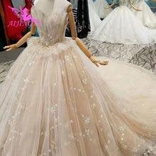 AIJINGYU ウェディングドレススパンコール予算ガウンロシアの高級最新用品ホワイトロングブライダルガウンのウェディングドレス店