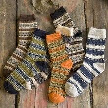 Новые мужские зимние густая шерсть Носки Ретро Стиль теплые шерстяные носки. 1 пара