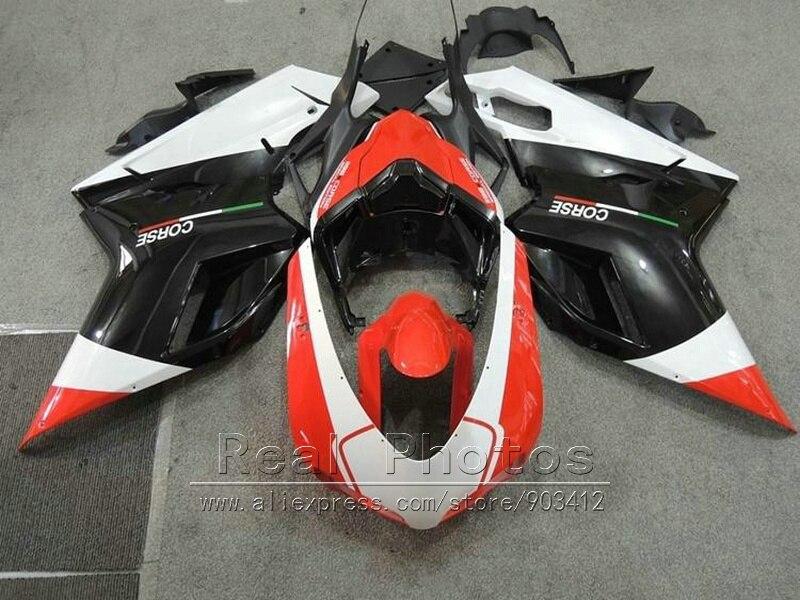 Motorcycle brand new bodywork fairing kit for Ducati 848 1098 1198 2007 2011 black red white