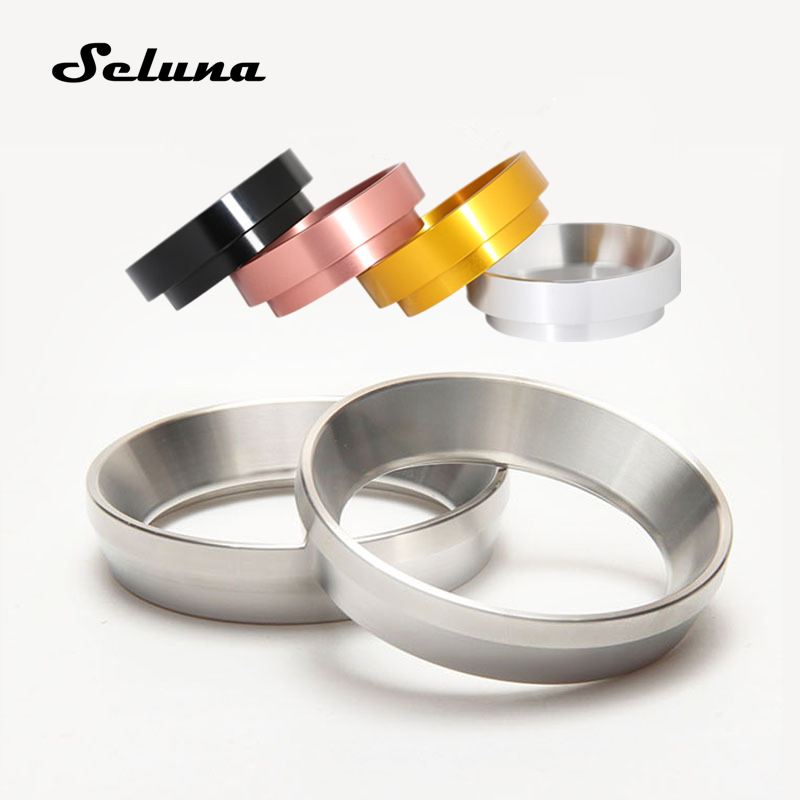 58mm Aluminum IDR Ingredient Dosing Ring for Coffee Brewing Bowl Coffee Powder Espresso Maker Coffee Tamper Barista Accessories