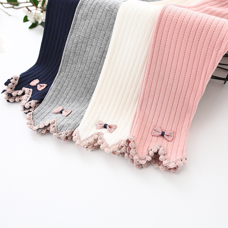 Girls Leggings Thin Baby Infant Children's Wave Pants Feet Trousers Baby Girl Pants Autumn And Winter Fashion Casual Pants