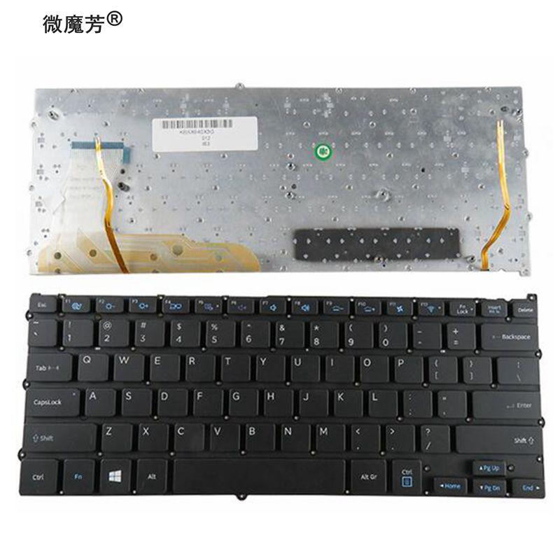 English For Samsung NP940X3G NP940X3F 940X3G 940X3F US Laptop Keyboard backlit