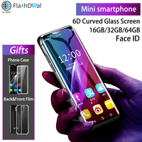 K Touch I10 Super mini 4G Mobile Phone MTK6737 Quad Core 3.46Inch Curved Screen Smartphone 3GB 64GB Android 8.1 Cell Phone