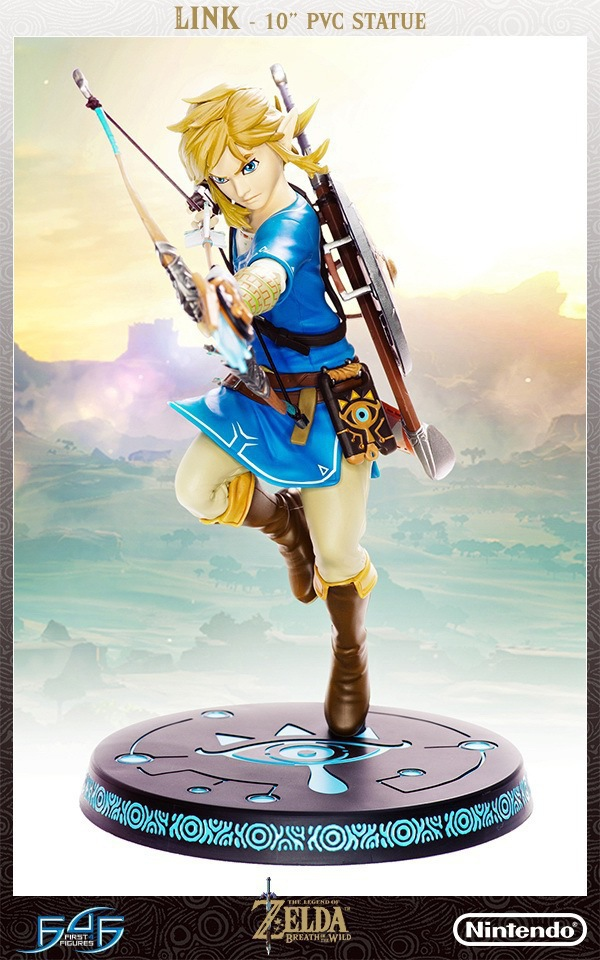 New arrival The Legend of Zelda Breath of the Wild Link 10 PVC Painted Statue Figure Collectible Model Toy