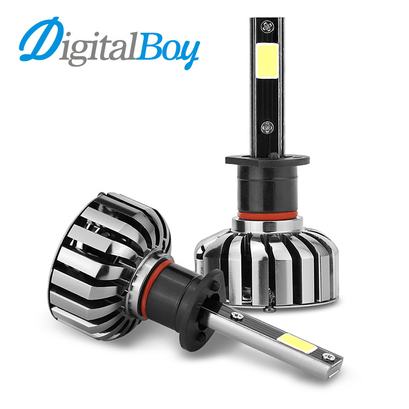 DIGITALBOY H1 LED Headlight 80W Car LED Lamp Automobile Headlamp Front Light Fog Bulbs 6000K 8000LM Car Lighting Source