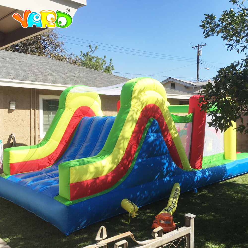 YARD Top Inflatable Bouncer Combo Slide Obstacle Course Jumping House Kids Inflatable Bounce House for Outdoor all in 1 combo sports games inflatable bouncing castle house obstacle course for kids fun
