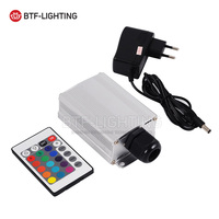10W RGB LED Twinkle Fiber Optic Engine Driver With 24key IR Remote Controller For All Kinds