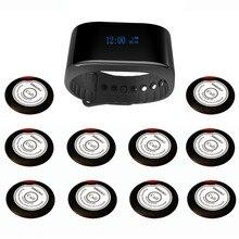 SINGCALL sistema de llamada inalámbrica de los servicios de camareros café, Iglesia buscapersonas sistema 1 nueva pulsera reloj buscapersonas más 10 botones de llamado