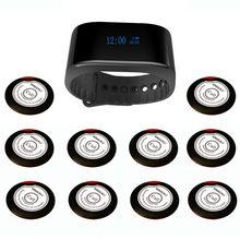 SINGCALL kablosuz çağrı sistemi garson hizmetleri Cafe, kilise çağrı sistemi 1 yeni bilezik izle çağrı cihazı artı 10 çağrı düğmeleri