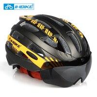 INBIKE Goggles Cycling Helmet Road Bicycle Helme Professional Mountain Helmet Racing Bike IN MOLD Safely Cap