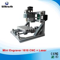 GRBL Control Mini Cnc Engraving Machine Cnc 1610 2 In 1 Laser Cutting Machine