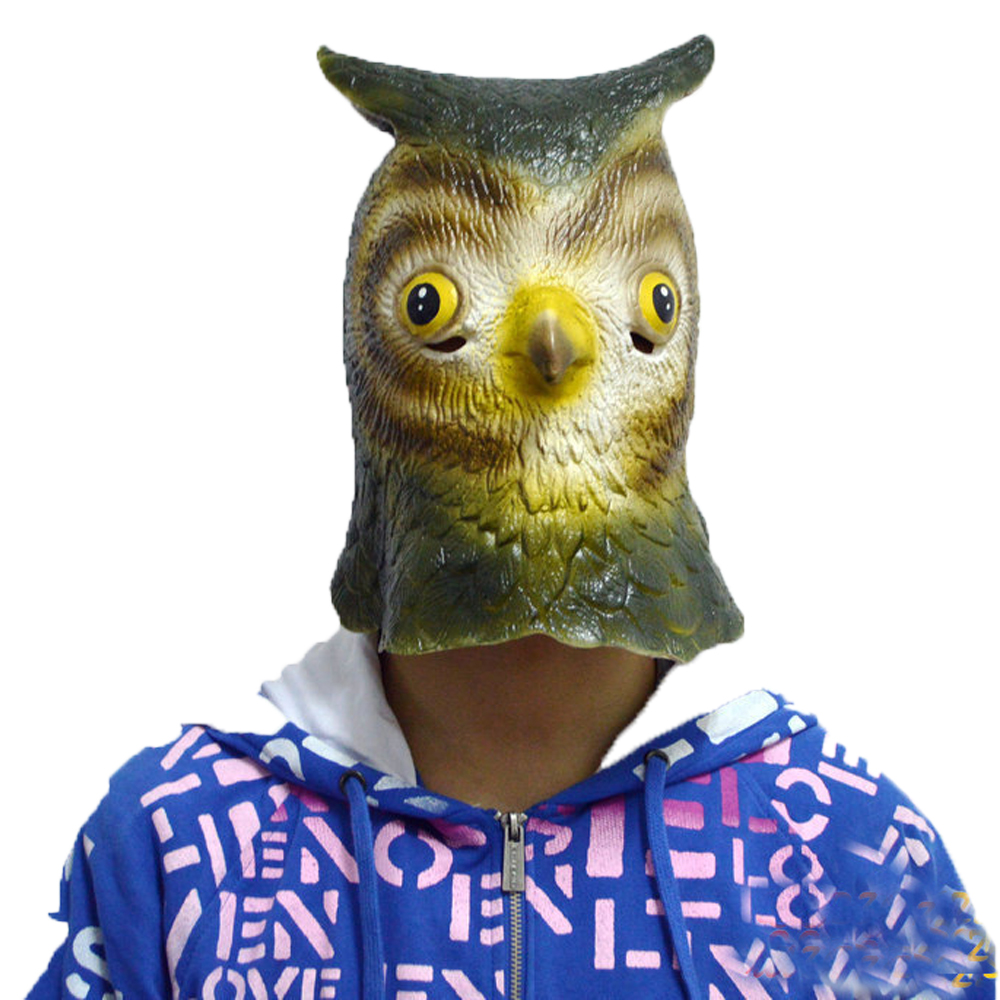 Image 2 - Full Head Owl Latex Mask In Adult Size Cute Animal Simulation Masks For Halloween Masquerade Cosplay And Costume-in Party Masks from Home & Garden on AliExpress