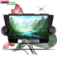 2 Din Android 8.1 Car radio Multimedia Video Player built in Gps map wifi usb For Toyota Highlander 2009 2013 car pc tablet tape