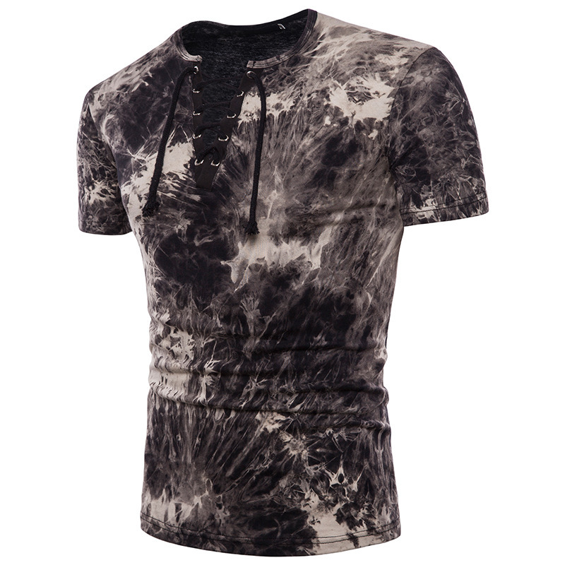 Summer Men's Casual Printed clothing brand T Shirt Round Neck Pullover Tops fashion tshirts men short sleeve slim fit tee shirts