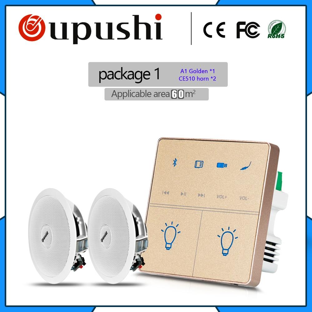 купить home audio mini amplifier bluetooth 10w ceiling speaker mount family background music sound system по цене 7479.73 рублей