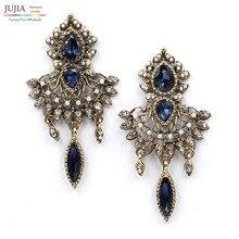 New Hot sale 2015 stud earrings tassel fashion earring crystal vintage statement Earrings for women jewelry wholesale