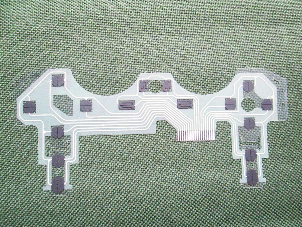 Hijau Konduktif Melakukan Film Keypad Kabel Fleksibel untuk PS3 Controller Sirkuit PCB Ribbon Film untuk PlayStation 3