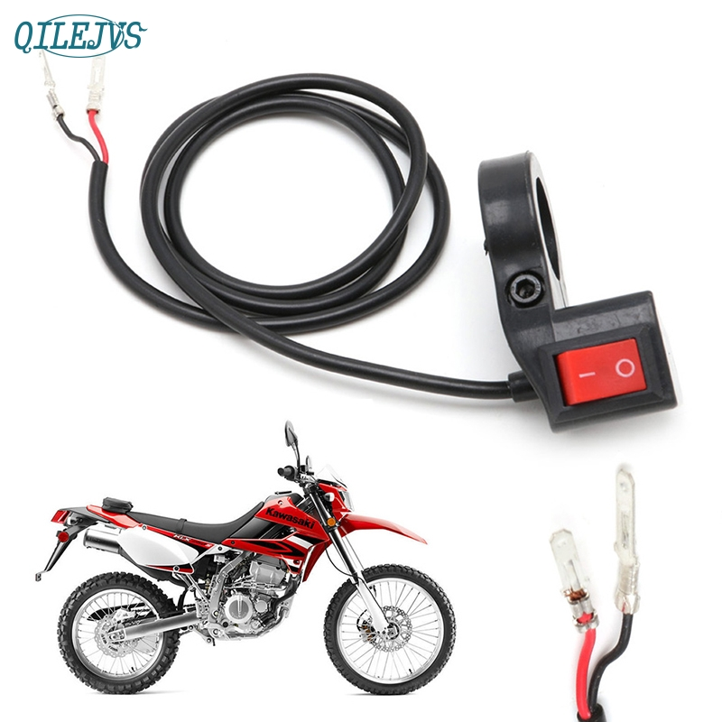 Handlebar ON-OFF 2Wire Button Switch 3pin Universal For E-Motorcycle E-scooter