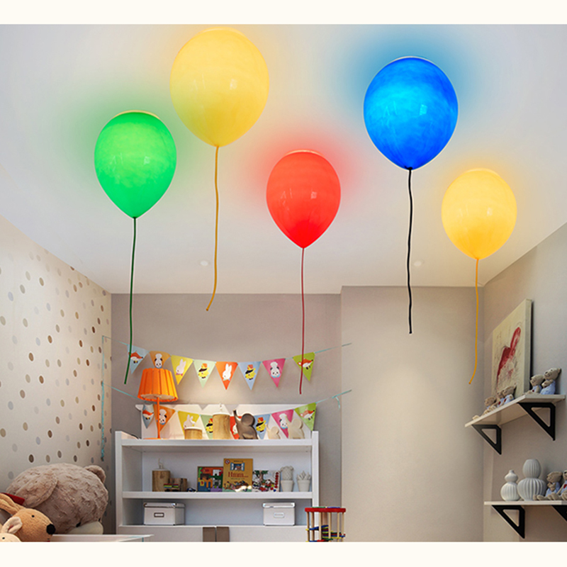 Modern Chromatic Balloon Ceiling Light LED Children Room Ceiling lamp Light Luminaria Hanging Lamp Cartoon Home Lighting F048