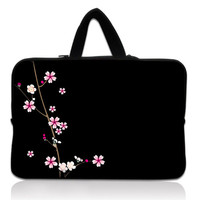 Black With Flower 13 Soft Neoprene Laptop Sleeve Bag Case Pouch For 13 3 Apple Macbook
