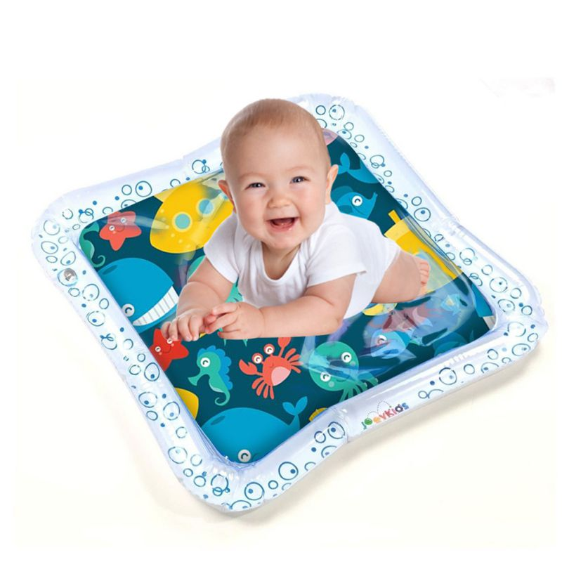 Children's Inflatable Water Cushion Pad Star Round Shape Water Play Mat Tummy Time Activity Center For Kids Baby Toddlers
