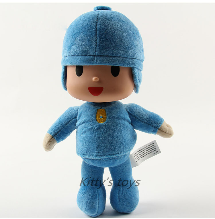 3pcs/lot 10inch 25cm Free Shipping 3pcs/set Pocoyo Elly Pato Soft Plush Stuffed Toy Doll Gift for Kids free shipping