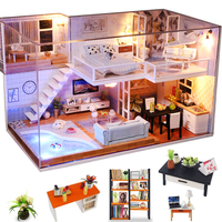 Кукольный домик Cutebee миниатюрная мебель кукольный домик Сделай Сам миниатюрные домики комната коробка театральные игрушки для детей DIY кук...