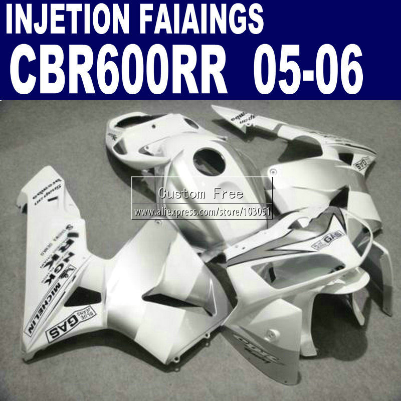 Injection body fairings set for Honda white repsol CBR 600RR fairing CBR 600RR 2005 2006 CBR600RR 05 06 aftermarket  kit custom injection motorcycle fairings set for honda 06 07 cbr 1000rr 2006 2007 cbr1000rr white repsol aftermarket fairing kits