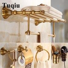 Набор аксессуаров для ванной комнаты античный латунный держатель для бумаги, вешалка для полотенец, держатель для туалетной щетки, ПОЛОТЕНЦЕДЕРЖАТЕЛЬ для ванной комнаты Аппаратный набор