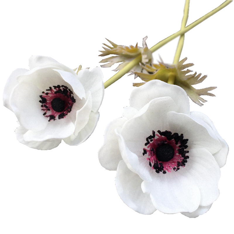 Big deal real touch artificial anemone flowers silk flores real touch artificial anemone flowers silk flores artificiales for autumn fall wedding decoration fake flowers accessries mightylinksfo