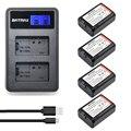 4 Pcs 2000 mAh Baterias NP-FW50 FW50 NP NPFW50 + LCD Dual USB carregador + 2-port plug para sony nex-3 nex-5c alpha nex-c3 a55