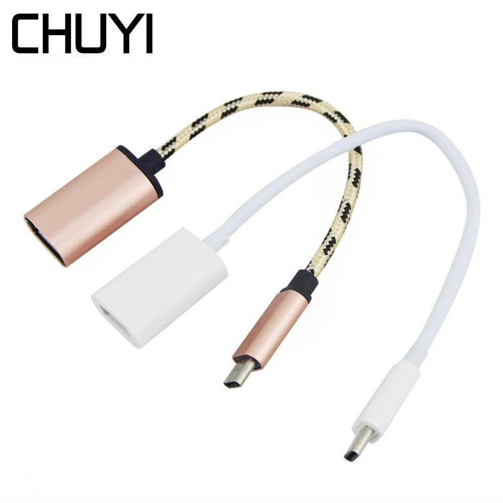 CHUYI Type-C 3.1 To USB 3.0 OTG Hub High Speed Mini USB Splitter Adapter For Macbook Huawei Matebook PC Smartphone Accessories
