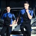 SET OF COAT+PANTS quality short sleeve welder coat mechanic uniform 4S car service uniform auto repair uniform