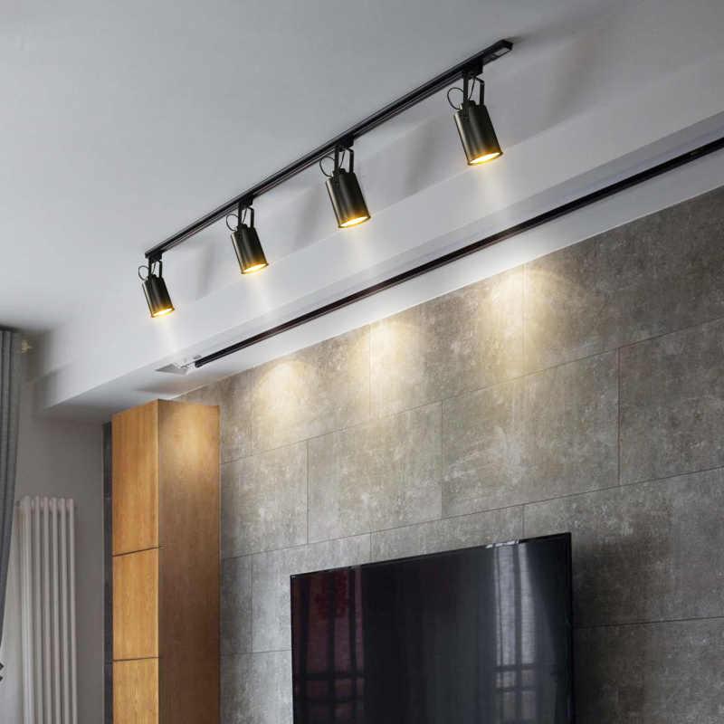 מודרני LED מסלול רכבת קלה אור מנורת בגדי חנות Windows אולמות תצוגה תערוכה זרקור בית תאורת ספוט מנורות גופי