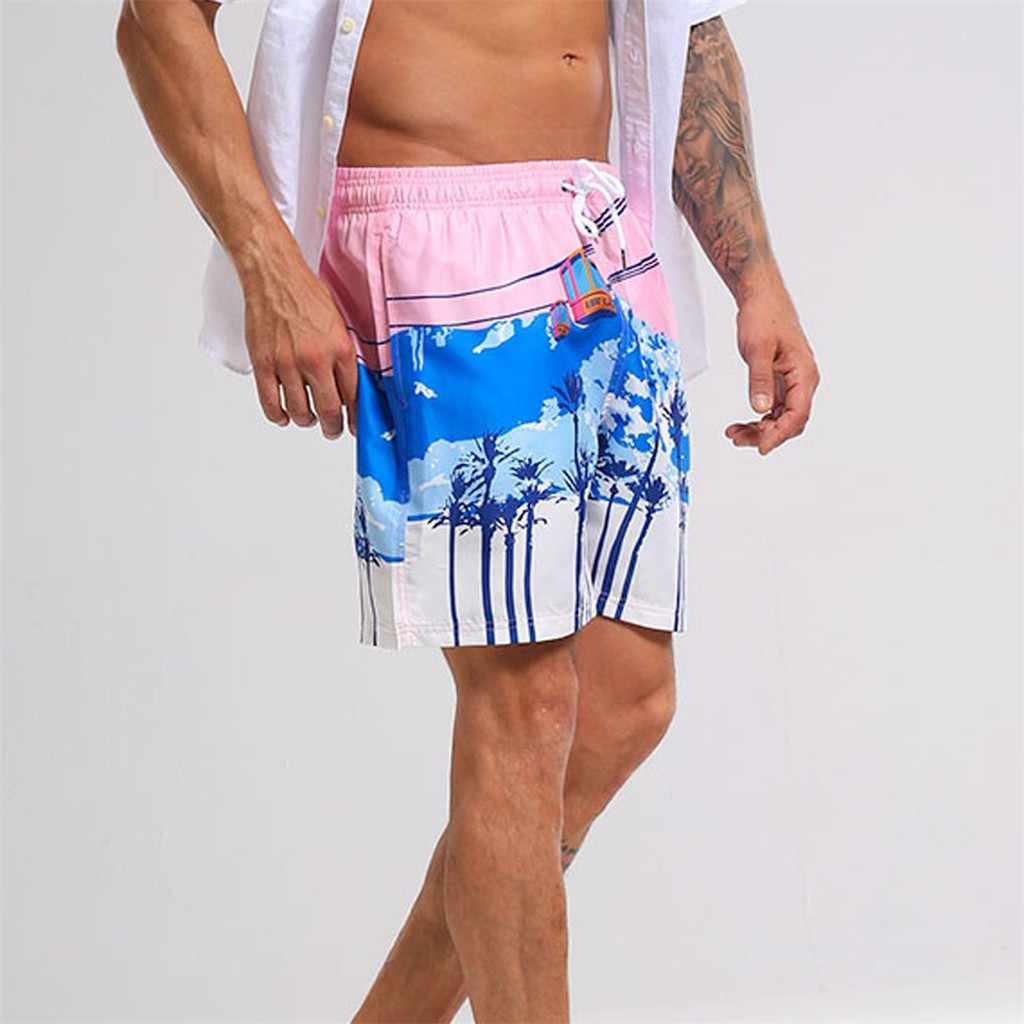 c31b4e17f1 Brand Men Swimwear Swimsuits Beach Board Shorts Boxer Trunks Sea Casual  Short Bottoms Quick Drying Gay