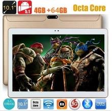 10 pulgadas de la Tableta 1280*800 IPS Octa Core MTK8752 4 GB RAM 64 GB ROM 8 Núcleos Embroma el Regalo MEDIADOS GPS tablet Android 5.1 el Envío Libre gratis
