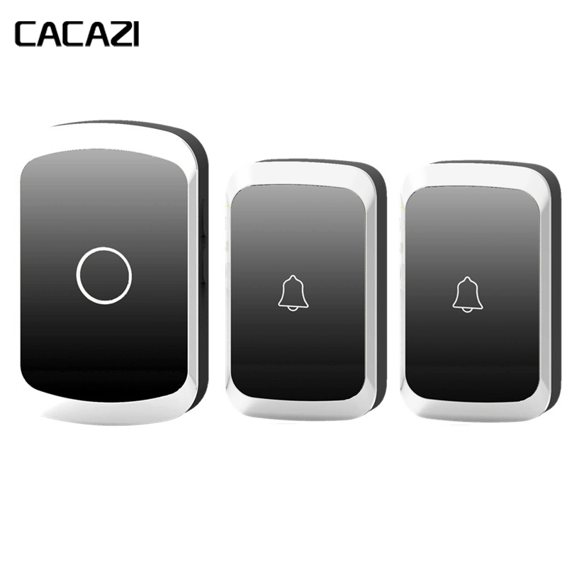 CACAZI Wireless Doorbell Waterproof AC 110-220V 300M Remote Door Bell 1/2 Buttons+1/2 Receivers 36 Melody 4 Volume Doorbell Call creepy comics volume 2 page 4